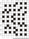 Классический кроссворд 13x17 клеток (~78x102 мм.)