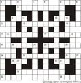Классический кроссворд В2 15x15 клеток (~90x90 мм.)