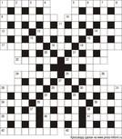 Классический кроссворд 17x19 клеток (~102x114 мм.)