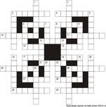 Классический кроссворд В2  19x19 клеток (~114x114 мм.), пустой блок 3х3