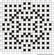 Классический кроссворд 23x23 клеток (~138x138 мм.)