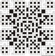 Классический кроссворд 29x29 клеток (~174x174 мм.)