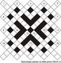 Диагональный кроссворд 17x17 клеток (~68x68 мм.)