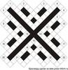 Диагональный кроссворд 19x19 клеток (~76x76 мм.)