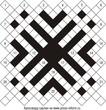 Диагональный кроссворд 21x21 клеток (~84x84 мм.)