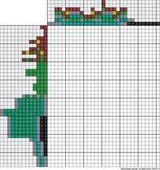 Японский кроссворд цветной 35x40 клеток (~175x200 мм.)