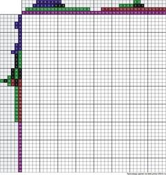Японский кроссворд цветной 40x45 клеток (~200x225 мм.)