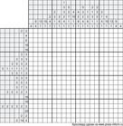 Японский кроссворд ч/б 20x20 клеток (~100x100 мм.)