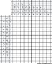 Японский кроссворд ч/б 30x35 клеток (~150x175 мм.)