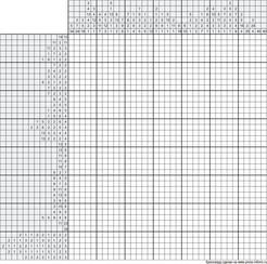 Японский кроссворд ч/б 35x40 клеток (~175x200 мм.)