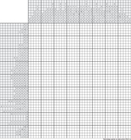 Японский кроссворд ч/б 40x45 клеток (~200x225 мм.)