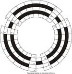 Кольцевой кроссворд 27x5 клеток