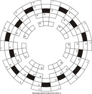 Кольцевой кроссворд 28x6 клеток
