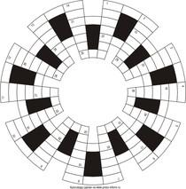 Кольцевой кроссворд 28x7 клеток
