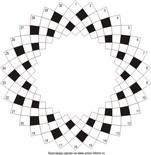 Круговой кроссворд 30x5 клеток (~690x115 мм.)