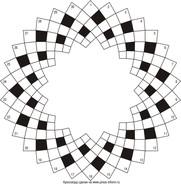 Круговой кроссворд 30x6 клеток (~690x138 мм.)