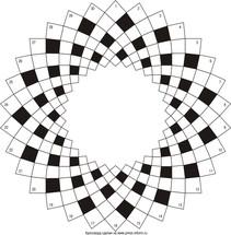 Круговой кроссворд 30x7 клеток (~690x161 мм.)