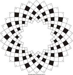 Круговой кроссворд 30x8 клеток (~690x184 мм.)