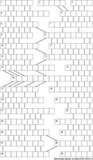 Кроссворд лабиринт 15x15 клеток