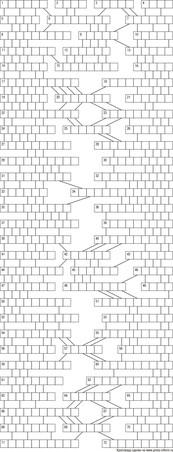 Кроссворд лабиринт 19x29 клеток