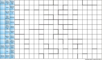 Сканворд лабиринт 18x12 клеток (~216x144 мм.)
