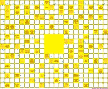 Сканворд  22x18 клеток (~264x216 мм.), пустой блок 4х4