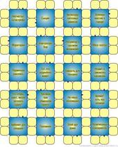 Сотовый сканворд  13x16 клеток (~130x160 мм.), 8 букв