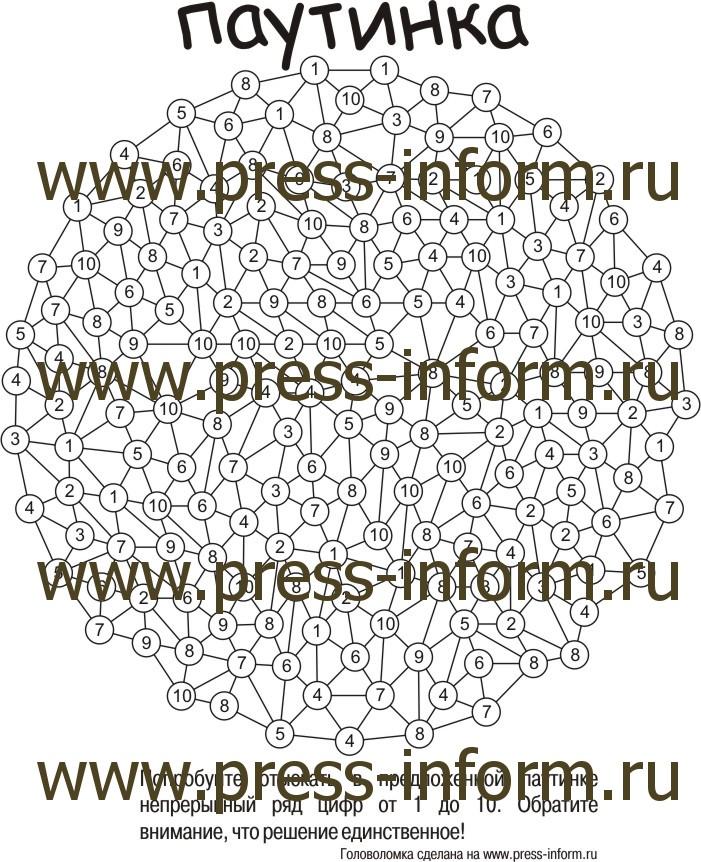Головоломка Паутинка  ux клеток, детская головоломка